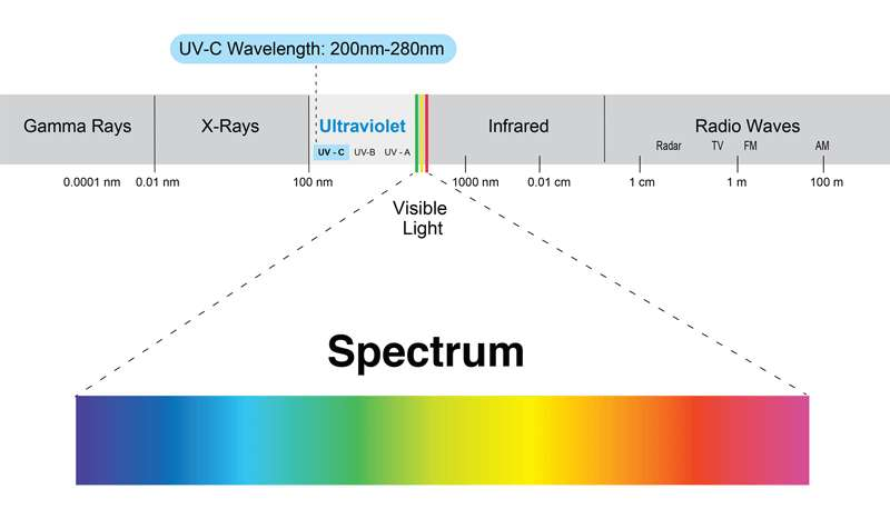 UV-C Wavelength Chart