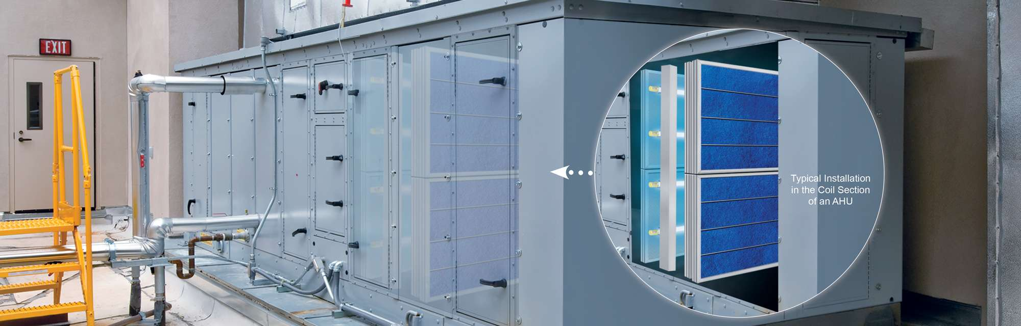 View of our Products Inside an Air Handler