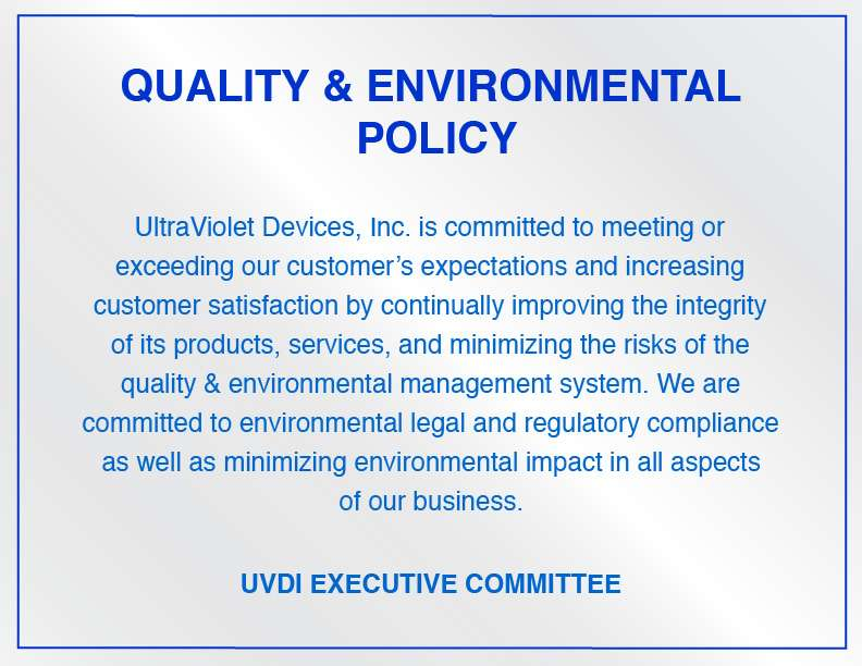 Quality and Environment Policy