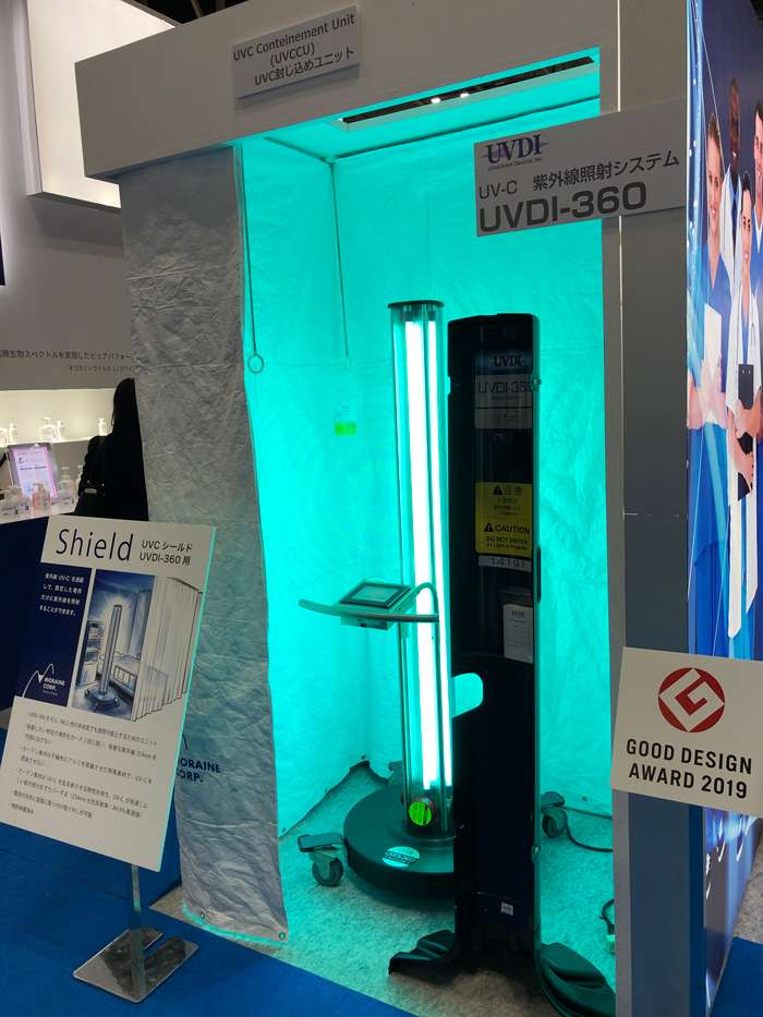 UVDI-360 Room Sanitizer at an Asian Trade Show